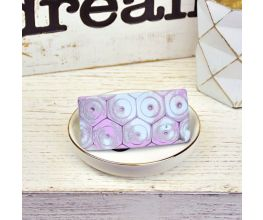 Sculpey Premo™ Hexagon Mokume Gane Hair Barrette