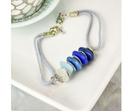 Liquid Sculpey® Pebbles of Blue Bracelet