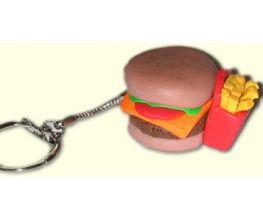 Sculpey® III Hamburger and Fries Key Chain