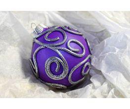 Sculpey Premo™ Elegant Purple Scrolled Ornament