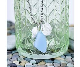 Liquid Sculpey® Sea Glass & Sea Shells Necklace