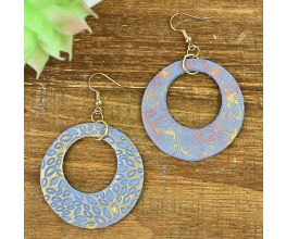 Sculpey Soufflé™ Silkscreened and Textured Earrings
