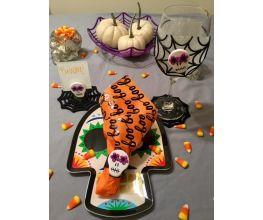 premo Sculpey Halloween Sugar Skull Place Setting