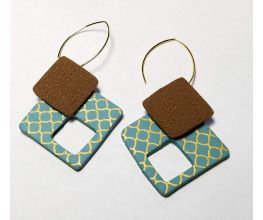 Sculpey III® Silkscreened Square Earrings