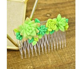 Sculpey Air-Dry™ Porcelain Faux Succulent Hair Comb
