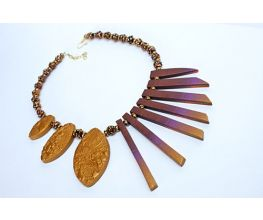 Sculpey Premo™ Multicolored Reversible Fan Necklace