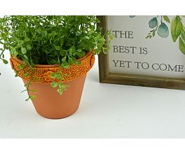 Sculpey Premo™ Mustard Embellished Planter Pot