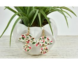 Premo Sculpey® Faux Terrazzo Earrings