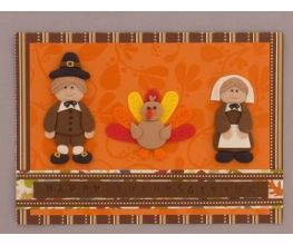 Sculpey III Thanksgiving Card