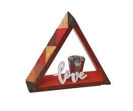 Sculpey Soufflé™ Texture Tiled Triangle Shelf