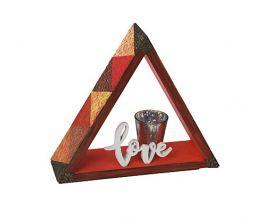 Sculpey Soufflé™ Texture Tiled Triangle Shelf