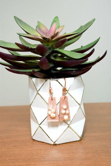 Liquid Sculpey Pearl Embedded Earrings