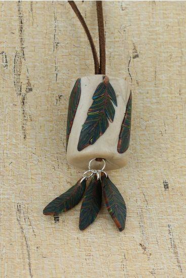 premo! Feather Cane Pendant