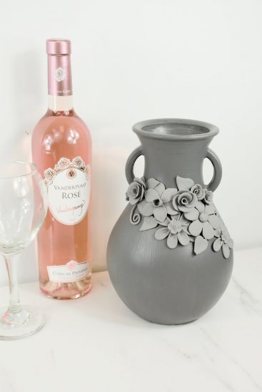 Original Sculpey® Gray Floral Vase
