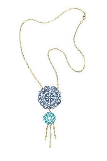 Liquid Sculpey® Boho Chic Blue Necklace