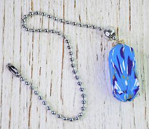 Blue Glitter Fan Pull