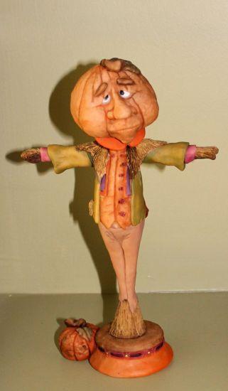 Super Sculpey Pumpkin Head Scarecrow