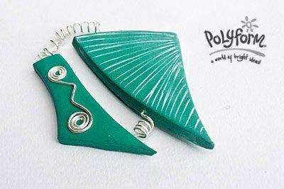 Sculpey® Soufflé Eye Catching Carved Pendant