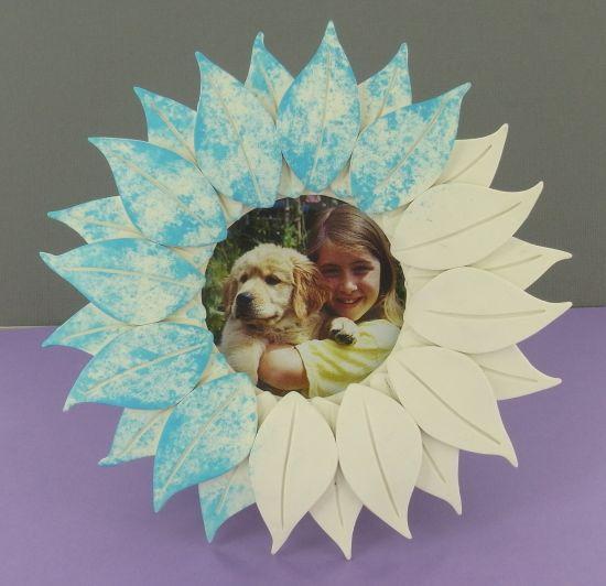 Original Sculpey Flower Frame