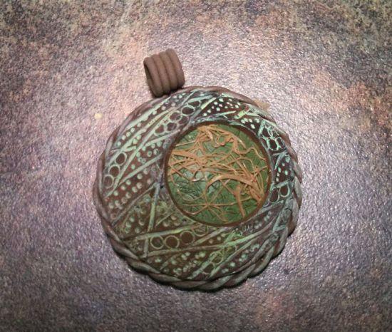 Sculpey Soufflé  Carved Bubble Pendant