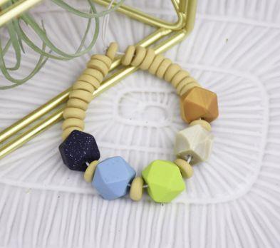 Sculpey PremoTM Faceted Beads Bracelet