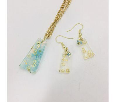 Liquid Sculpey® Trapped Stars Pendant & Earrings