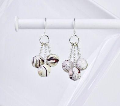 Sculpey Premo™ Marble Trio Earrings