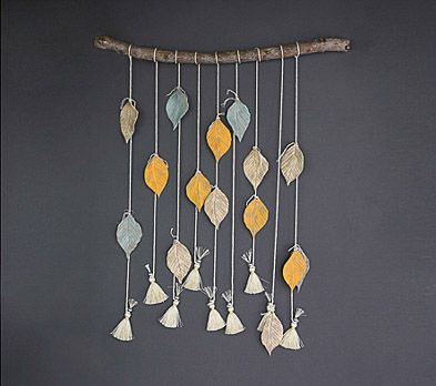 Faux Feather Wall Hanging