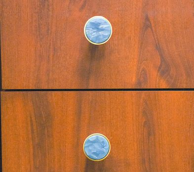 Seawater Sparkle colored Drawer Knobs