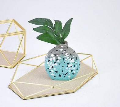 Sculpey Premo™ Turquoise Terrazzo Vase