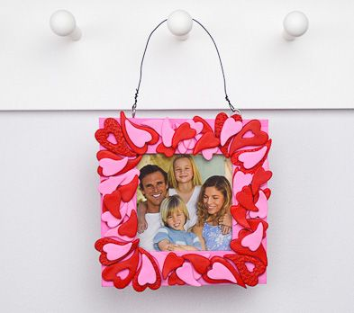 Pink and Red Valentine Heart Frame