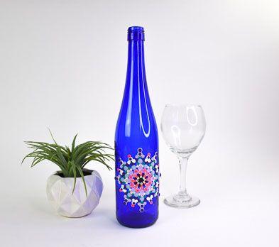 Sculpey III® & Liquid Sculpey® Dot Painted Wine Bottle