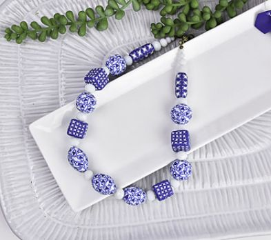 Sculpey Soufflé™ Midnight Blue & Igloo Canework Beads