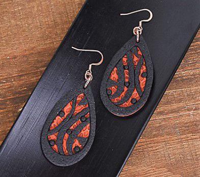 Sculpey Soufflé™ Cinnamon Drop Earrings