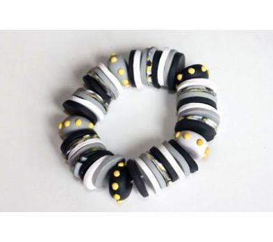 Sculpey Soufflé Circles and Dots Bracelet