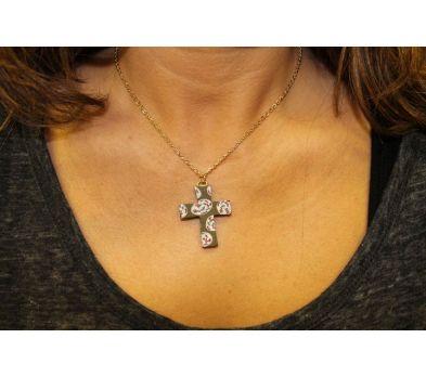 Sculpey III Clay Cross Necklace