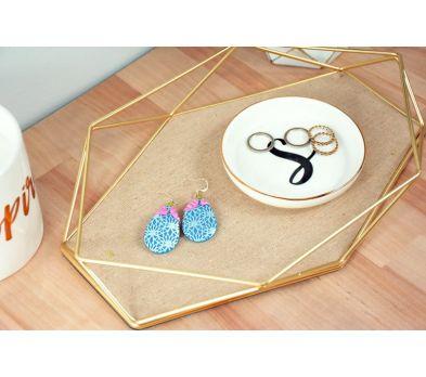 Sculpey Soufflé Lotus Earrings
