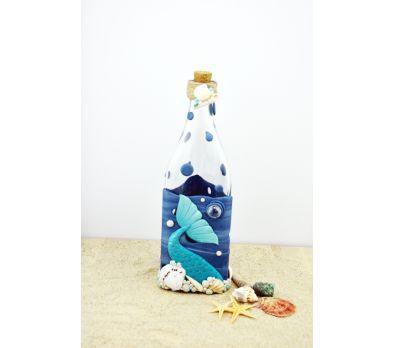 Sculpey III Mixed Media Mermaid Themed Bottle