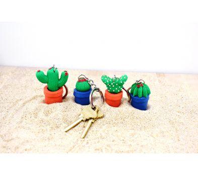 Sculpey Souffle Cactus Key Chain
