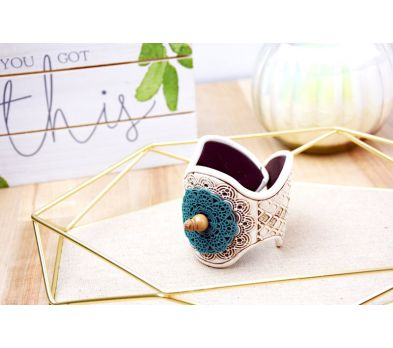 Sculpey® Souffle and Liquid Sculpey® Mandala Cuff Bracelet