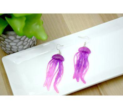 Liquid Clay Jellyfish Earrings