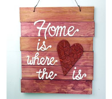 """Sculpey® Souffle  """"Home is Where the Heart Is"""" Wall Plaque"""