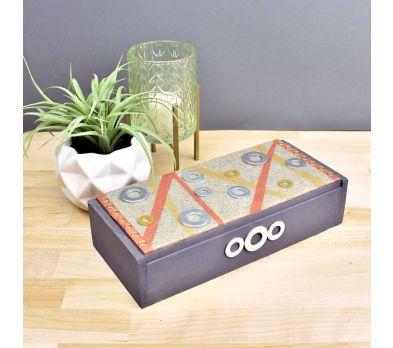 Premo Grey Granite Mixed Media Table Box