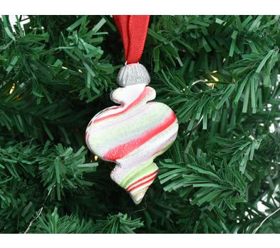 Premo Sculpey® Marbled Finial Ornament