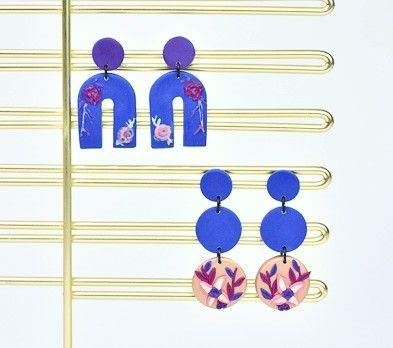 Sculpey Soufflé™ Midnight Blue Dangle Earrings