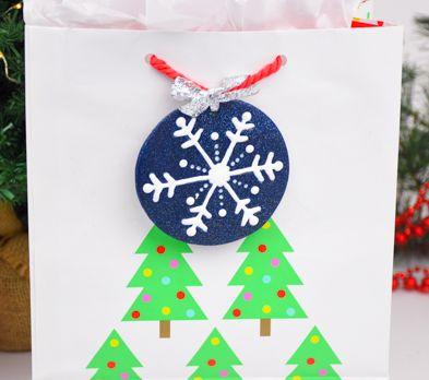 Sculpey PremoTM and Liquid Sculpey® Snowflake Gift Tag Ornament