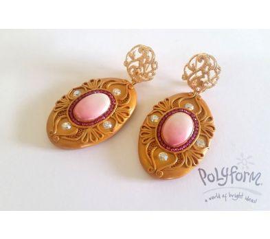 Premo! Accents Golden Treasure Earrings