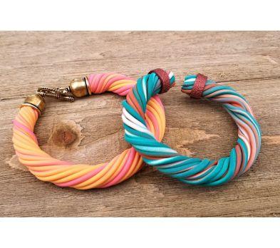 Souffle Extruded Twisted Bracelets