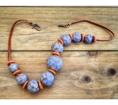 Souffle Rustic Faceted Bead Necklace
