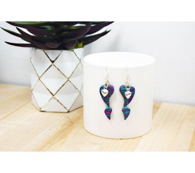 Sculpey III® Double Heart Earrings